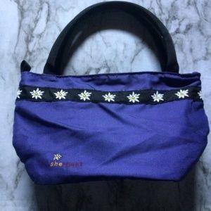🍁Sherpani Purple Nylon Pino Small Tote Bag